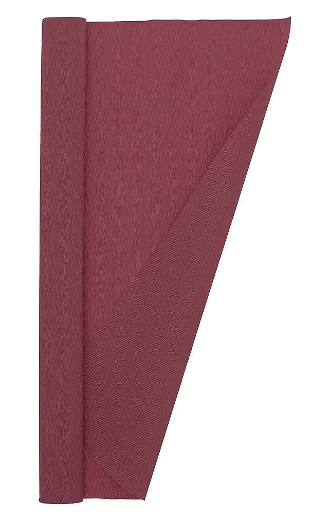 Crepe Paper Roll, Premium Extra Fine Italian Crepe Paper 60 g, 13.3 sqft, Burgundy Red