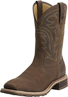 Men's Hybrid Rancher Waterproof Western Boot Oily Distressed Brown Size 7.5 Ee/Wide Us