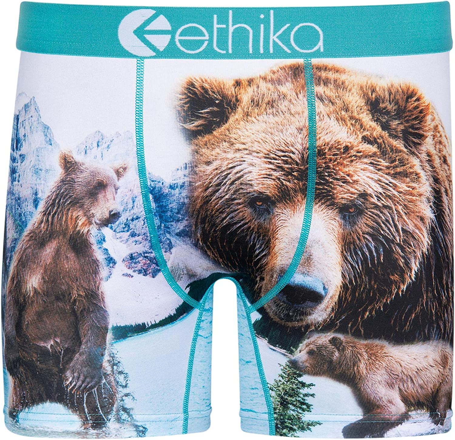 Ethika Mens Mid Boxer Briefs | Brother Bears