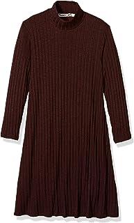 Michael Stars Women's Jasper Poorboy 3/4 Sleeve Mock Neck Swing Dress