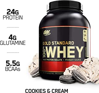 OPTIMUM NUTRITION GOLD STANDARD 100% Whey Protein Powder, Cookies and Cream, 5 lb