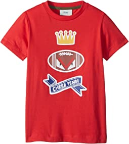Fendi Kids - Short Sleeve 'Cheer Fendi' Football Graphic T-Shirt (Toddler)