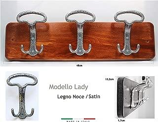 Acciaio inossidabile Hook Rail 3 Hook da parete stile americano per porta del bagno cucina Casewind appendiabiti gancio appendiabiti in acciaio INOX nero finito Nero