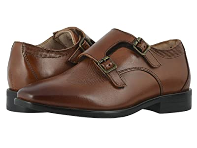 Florsheim Kids Postino Double Monk, Jr. (Toddler/Little Kid/Big Kid) (Cognac) Boy