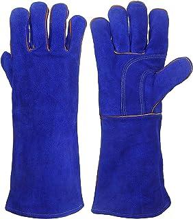耐熱グローブ 革手袋 作業用 耐熱 手袋 キャンプグローブ ストーブ 焚き火台 電気溶接手袋 男女兼用