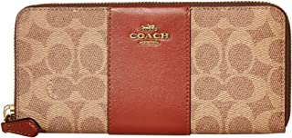 محفظة كبيرة للنساء بسحّاب دائري بطول المحفظة من كوتش