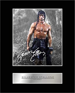 iconic pics Sylvester Stallone Signed Mounted Photo Display Rambo