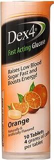 Dex4 Glucose Tablets, Orange, 10 Count (Pack of 6)
