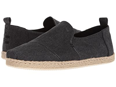 TOMS Deconstructed Alpargata Rope (Black Washed Canvas) Men