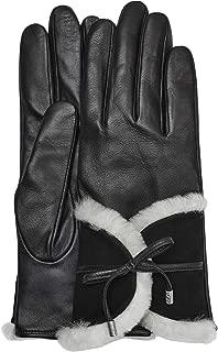 UGG Womens Combo Sheepskin Trim Glove