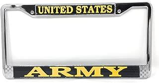 TAG FRAMES (MILITARY) US Army License Plate Frame (Chrome Metal)