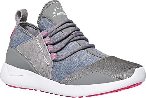 Superdry SD Superlite Runner chaussures - City City gris Fusion rose  grande remise