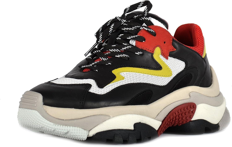 ASH Footwear Schuhe Addict Turnschuhe Rot und Schwarz Schwarz Damen 40 Schwarz Rot  Spätestens 2018
