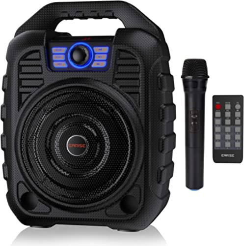 EARISE T26 Portable Karaoke Machine Bluetooth Speaker with Wireless Microphone, Rechargeable PA System with FM Radio,...