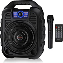 EARISE T26 Portable Karaoke Machine Bluetooth Speaker with Wireless Microphone,..