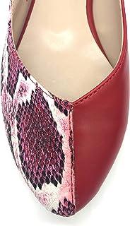 Binbon - Bayan Parçalı Yılan Deri Sandalet