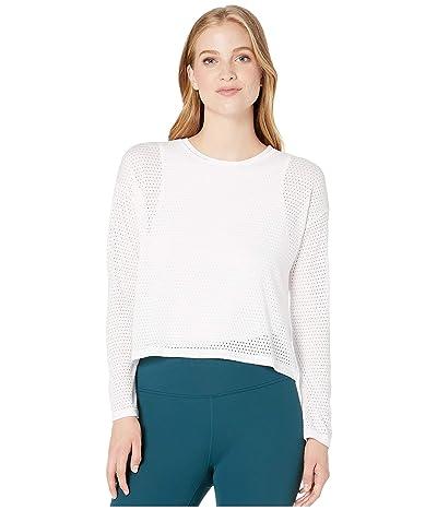 Beyond Yoga Mesh Me Up Pullover (White) Women