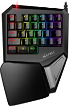 aLLreli Programmable Gaming Keypad, T9 Plus Mechanical Keyboard Gameboard with 29 Programmable Keys and RGB LED Backlit