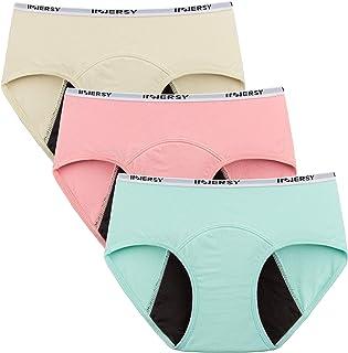 INNERSY - Calzoncillos menstruales para niña (algodón, 3 unidades)
