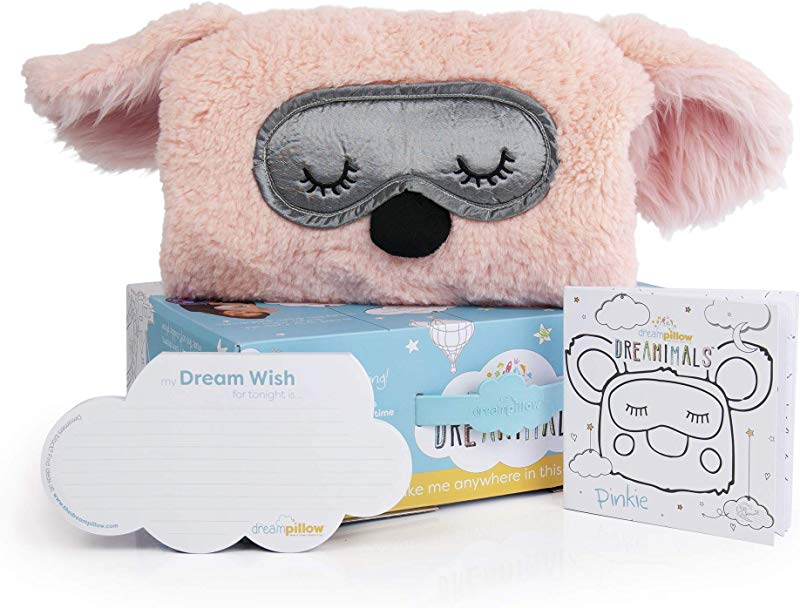 The Dream Pillow A Fun Super Soft Plush Toy Pillow You Can Snuggle Promotes Better Sleep Routine Bundle Includes Pillow Storybook And 60 Dream Wish Notes 2 Pack 1 White Pinkie Gift