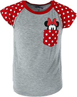 0b54c1acf3d74 Disney Youth Minnie Mouse Peeking Pocket Tee Shirt