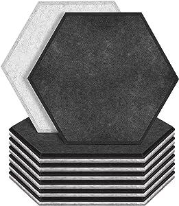 ZHERMAO 12 Pack Hexagon Acoustic Panels Beveled Edge Sound Proof Foam Panels, 14