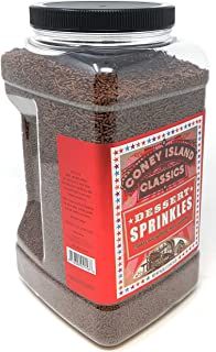Brooklyn Artisans Premium Gourmet Decorative Dessert Chocolate Sprinkles Jimmies Bulk Reusable Jar 6 Lbs (Made in USA) Kosher
