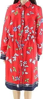 LAUREN RALPH LAUREN Womens Paza Floral Print Long Sleeves Shirtdress