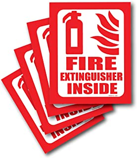 Fire Extinguisher Sign Self Adhesive Fire Extinguisher Sticker 4 Pack for Real Estate Compliance Signage