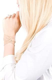 Twist Fabric Wrist Cuff Bracelet (Nude Tan)
