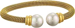 Majorica - Steel Bangle Bracelet