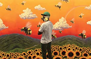 Tyler The Creator Flower Boy Poster, Horizontal Flower Boy Album Cover Music Poster, Aesthetic Room Decor, Not Framed, 17 by 11 Inches, Premium Art Print by Inkvo