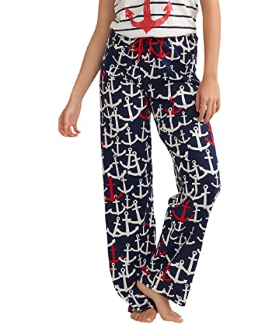 Little Blue House by Hatley Red and White Anchors Jersey Pajama Pants