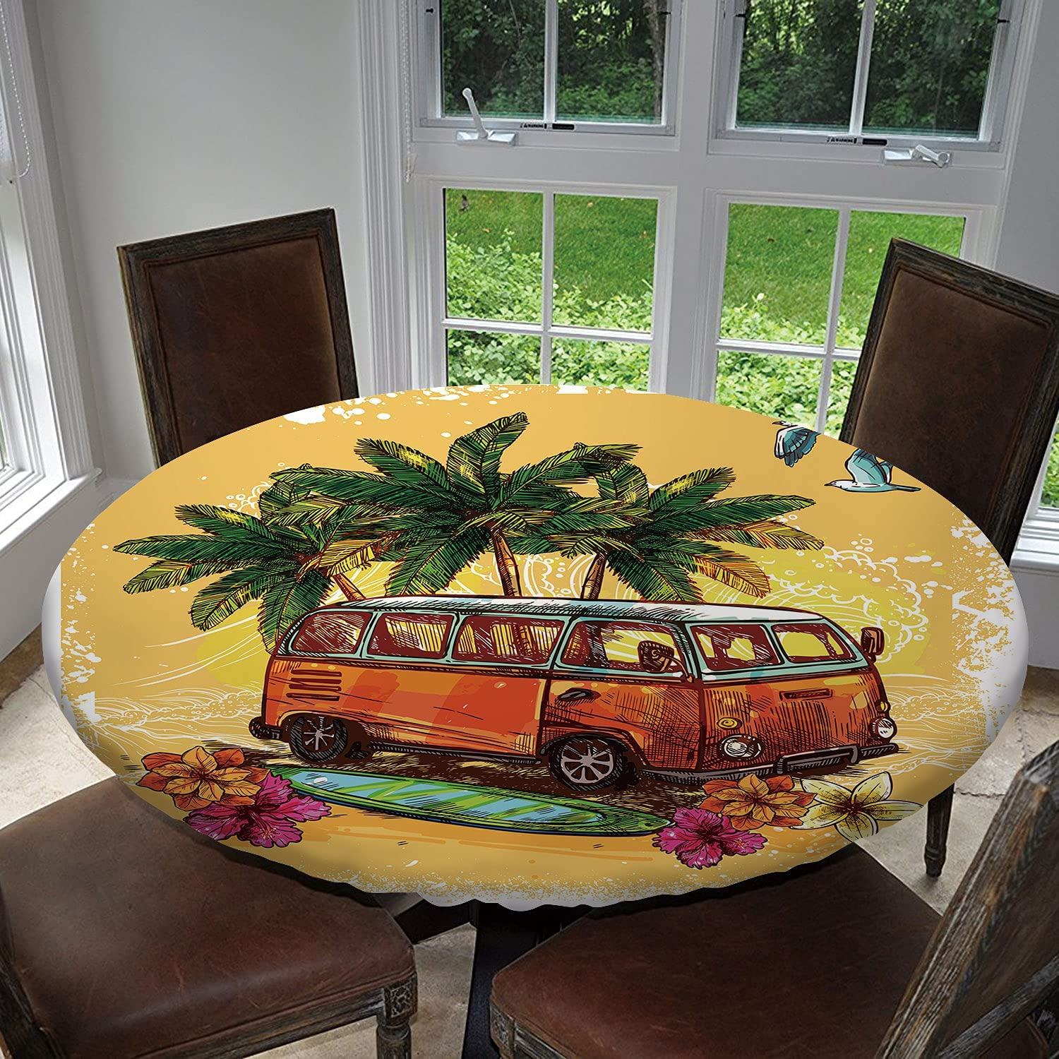 Tstyrea Surf Or Hippy StyleOld Houston Mall Bus Surfboard Outlet sale feature and Pa with Flowers