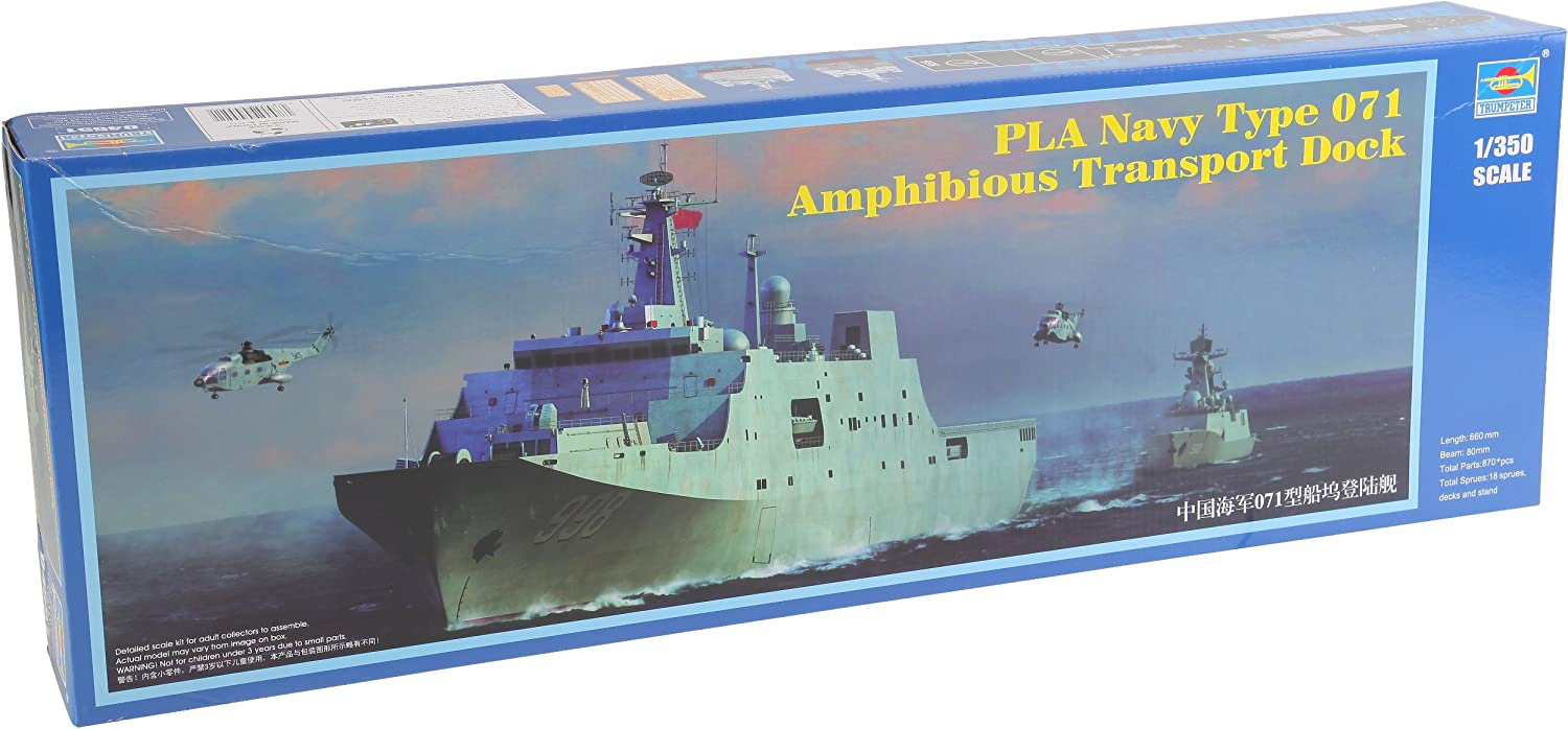 Trumpeter PLA Navy Our shop OFFers the best service Type New product type 071 Model Transport Kit Amphibious