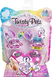 Twisty Petz, Series 4 3-Pack, Rainbowz Flying Unicorn, Grizzle Bear and Surprise Collectible Bracelet Set, Multicolor