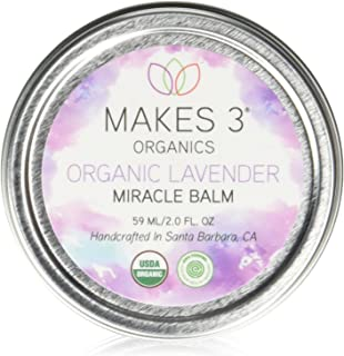 Makes 3 Organics Organic Miracle Body Balm, Lavender, 2 Fluid Ounce