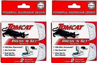 Tomcat Press 'N Set Mouse Trap - 4 Pack (4 Traps)