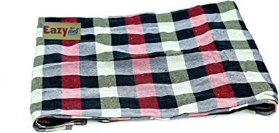EAZY WELL Soft Fabric Mattress Cover for Single Mattress (72x36x5) , Multi Color , 400 TC