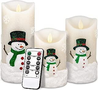 Snowman Flickering Flameless Candles, 5