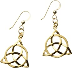 product image for Delicate Celtic Trinity Knot Gold-dipped Earrings on French Hooks