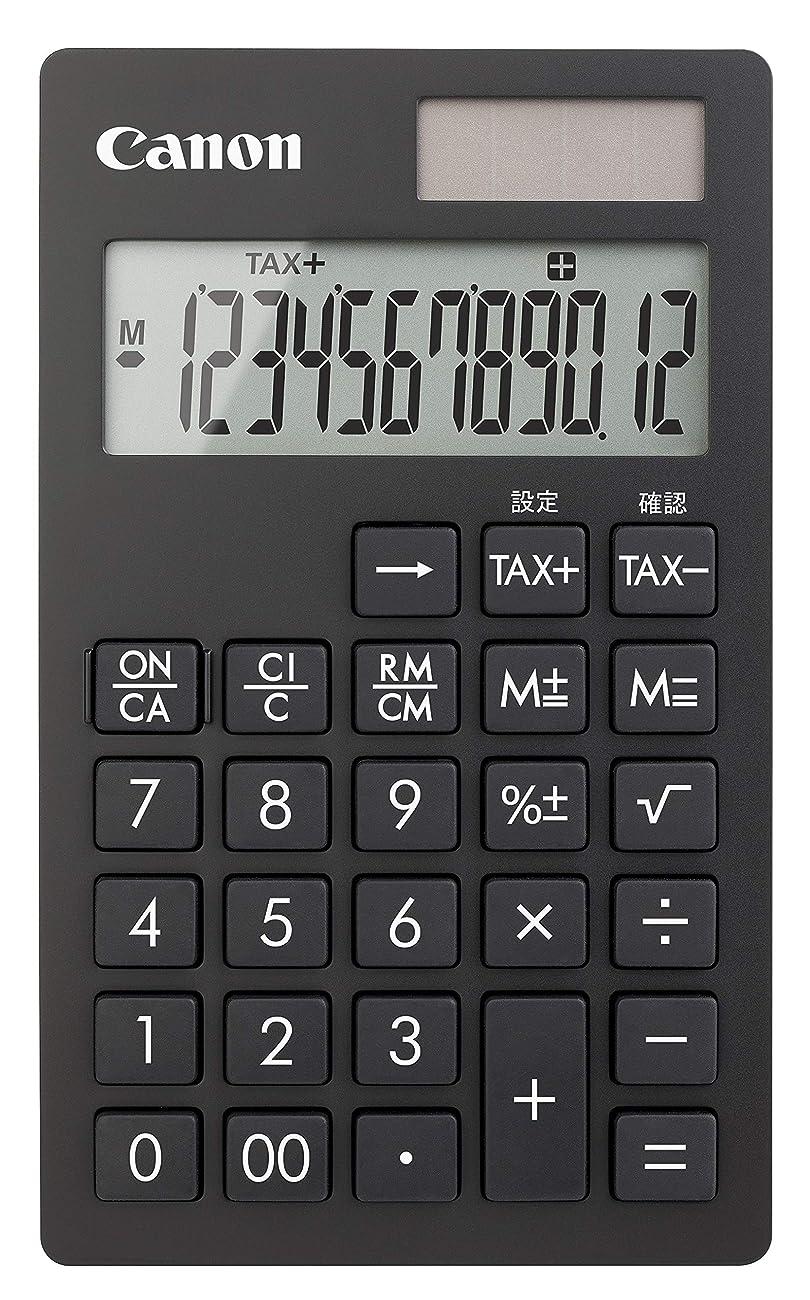 イライラするステップ事Canon ビジネス手帳型電卓 KS-12T-BK SOB  12桁