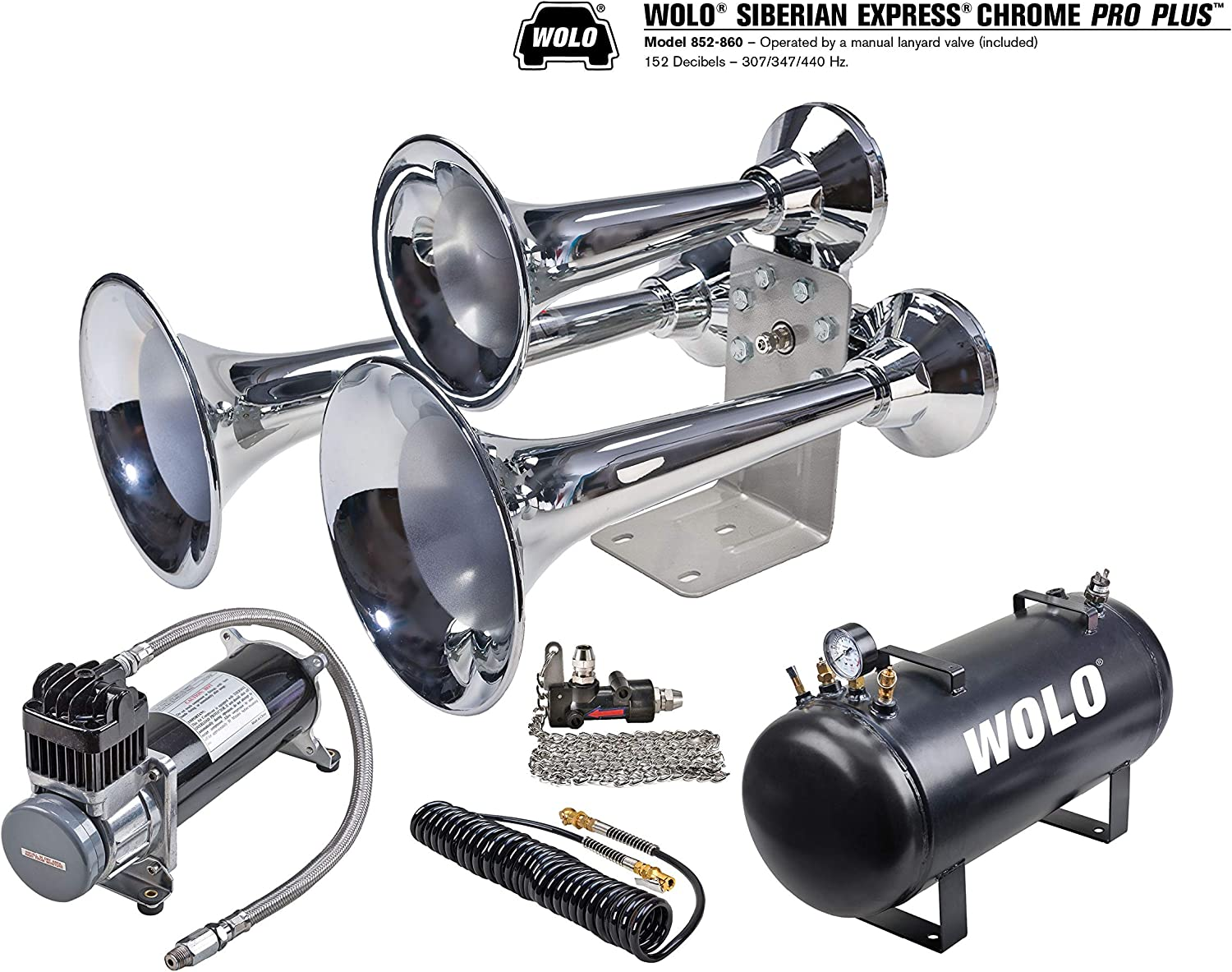 Wolo 852-860 Siberian Special Campaign Express PRO Genuine Free Shipping Extr 152 Decibels Plus 12-Volt