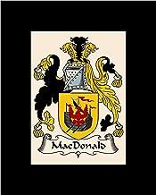 Carpe Diem Designs Macdonald Coat of Arms/Macdonald Family Crest 8X10 Photo Plaque, Personalized Gift