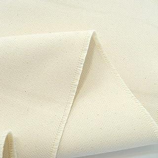 TOLKO Baumwollstoffe | naturbelassener Canvas-Stoff aus Roh-Baumwolle | robuster Polsterstoff/Bezugsstoff | Baumwoll-Segeltuch zum Polstern Beziehen | 1,5mm dick Meterware Breite: 150 cm | schwer