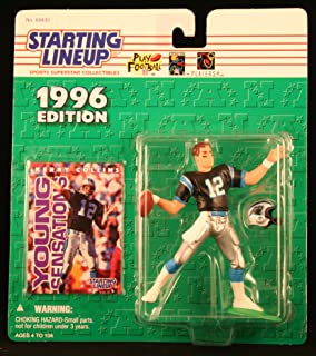 Starting Lineup Kerry Collins / Carolina Panthers 1996 NFL Action Figure & Exclusive NFL Collector Trading Card