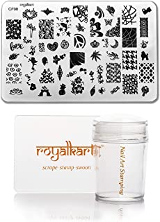 Royalkart Nail Art Stamping Kit Jumbo Image Plate With Soft Nail Silicone Stamper(CF08)