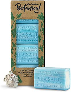 Australian Botanical Soap, Sea Salt with Ocean Minerals, 7 oz. 200g Bars - 8 Count