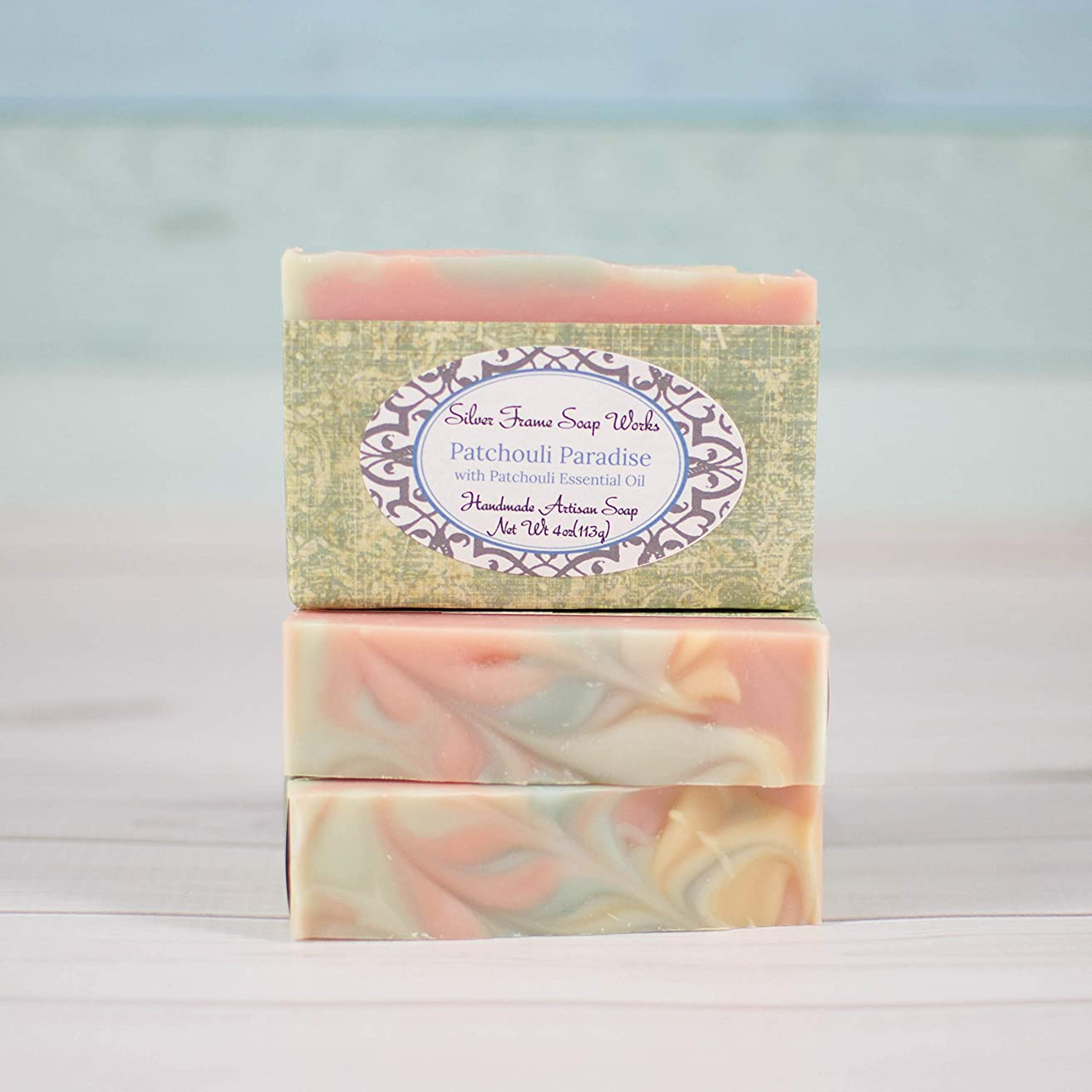 Handmade Patchouli Soap - 4 ounce bars with Patchouli Essential Oil