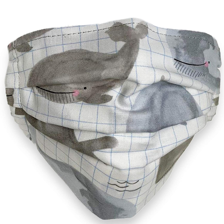 Whales design Las Vegas Mall Japan's largest assortment Cotton Face Mask W kids Layers 2 for